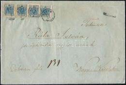 Ca. 1850 4 X 9kr Ajánlott Levél Előlapján, A Hátoldalon Bontásnál Kettétépett 6kr / Registered Cover With 4 X 9kr On The - Zonder Classificatie