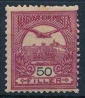 ** 1904 Turul Sötétborvörös 50f 3. Vízjelállás (110.000) (felül Rövid Fogak / Short Perfs. Above) - Zonder Classificatie