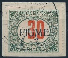 Fiume 1918 Pirosszámú Portó 30f M II., Bodor Vizsgálójellel (100.000) - Zonder Classificatie