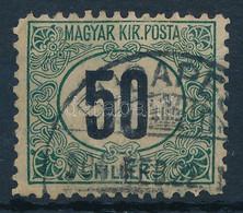 """O 1903 Zöldportó 50f """"B"""" 11 1/2 Fogazás, """"b"""" Számvízjelállással!! (100.000+++) - Zonder Classificatie"""