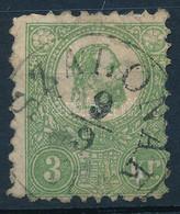 """O 1871 Kőnyomat 3kr """"SZALÓNAK"""" (140.000) (foghibák, Papírelvékonyodás /short Perfs, Thin Paper) - Zonder Classificatie"""