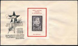1953 Sztálin-gyászblokk Kézisajtós Változat Bélyegzés Nélküli FDC-n (FDC 130.000) - Zonder Classificatie