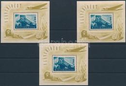 ** 1948 3 Db Lánchíd II Blokk (90.000) (vegyes Minőség / Mixed Quality) - Zonder Classificatie