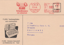 Schweiz -Flawil-St.Gallen- Beleg Mit Werbung- Taschenapotheke. -1946 - Máquinas De Franquear