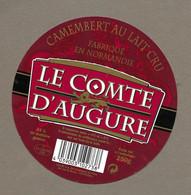 ETIQUETTE De FROMAGE.. CAMEMBERT Fabriqué En NORMANDIE.. Le Comte D'Augure.. VALLEE S.A. Fromagerie De CLECY (14) - Formaggio