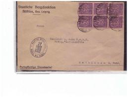 B51  -   BOEHLEN  2.7.1922    /    COVER WITH INTERESTING POSTAGE - Briefe U. Dokumente