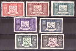 1946/49 - PA N° 15 à 18 + 42 à 44 - Neufs * - Avion Et Armoiries - Cote + 140 - Airmail
