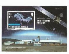 2014 Ascension Space Rosetta Mission Souvenir Sheet @ FACE - Ascensión