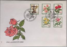 Suisse - Premier Jour - Pro Juventute 1982 - Thème Fleurs - Roses - FDC