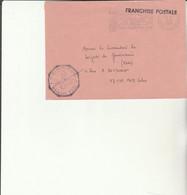 Z1 - Enveloppe Brigade  Gendarmerie D EZE  -  En Franchise - - Bolli Militari A Partire Dal 1940 (fuori Dal Periodo Di Guerra)