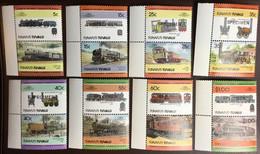 Tuvalu Funafuti 1984 Railways Locomotives 2nd Series Specimen MNH - Tuvalu (fr. Elliceinseln)