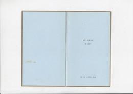 Menu - Huwelijk - Liliane / Marc - 1962 - Menus