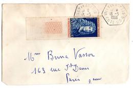 1966--tp  LA ROCHEFOUCAULT  Seul Sur Lettre--beau Cachet Hexagonal VILLY EN AUXOIS--21 - 1961-....