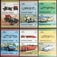 Tuvalu Nanumaga 1984 Cars Automobiles 1st Series Specimen MNH - Tuvalu (fr. Elliceinseln)