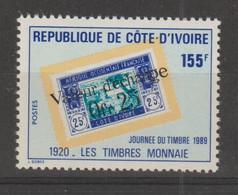 Cote D'Ivoire 1989 Journée Du Timbre 822 1 Val ** MNH - Côte D'Ivoire (1960-...)