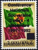 "1289**+Surcharge ""conférence Nationale …"", NON EMIS / Opdruk ""conférence Nationale …"", NIET UITGEGEVEN.- ZAÏRE - 1990-96: Nuovi"