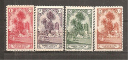 Marruecos Español - Edifil 105-09 - Yvert 133-37 (MH/*) - Marruecos Español