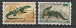 Cote D'Ivoire 1989 Animaux 833-34 2 Val ** MNH - Côte D'Ivoire (1960-...)