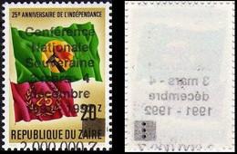 """1289** Surcharge Fort Décalée Et Recto Verso""""conf Nationale…"""", NON EMIS/ Recto Verso Verschoven Opdruk """"conf Nat - ZAÏRE - 1990-96: Nuovi"""