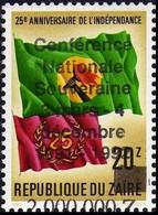 """1289**+Surcharge Décalée """"conférence Nationale …"""", NON EMIS.- ZAIRE - 1990-96: Nuovi"""