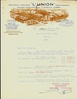 "JUMET  Brasseries Et Malteries "" L'UNION""   ( Anciens Ets Biernaux ) 1938 - Food"