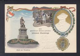 Präge-Karte Strassburg Gutenberg 1900 - Andere Persönlichkeiten