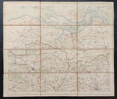 Topografische En Militaire Kaart 1912 STAFKAART Eeklo Assende Moerbeke Stekene Zomergem Zelzate Evergem Terneuzen Hulst - Topographical Maps