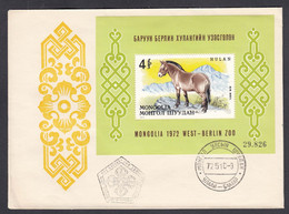 Mongolia 1972 - Przewalski-wild Hors, Mi-Nr. Bl. 28, FDC - Mongolia