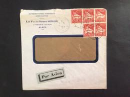 Algérie :lettre En-tête Judaïca Belle Affranchissement.Constantine1935 - Brieven En Documenten