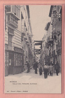 OLD POSTCARD -  SPAIN - ESPANA -   MURCIA - CALLE DEL PRINCIPE ALFONSO - ANIMATED - Murcia