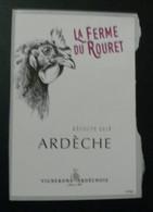 THEME POULE : LA FERME DU ROURET (ARDECHE) -  ETIQUETTE NEUVE - Ohne Zuordnung