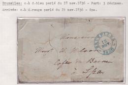 PRECURSEUR. 1836  BRUXELLES -SPA   VOIR SCAN - 1830-1849 (Unabhängiges Belgien)
