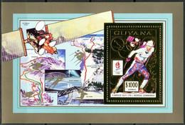 Olympische Spelen  1992 , Guyana - Blok ( Goud ) Postfris - Invierno 1992: Albertville