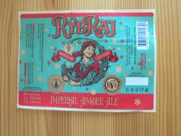 ETIQUETTE BIERE RYERAJ - IMPERIAL AMBER ALE - NEUVE - Bier