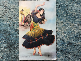 Carte Postale Brodée Andalucia  N°18. Voir  Photos - Borduurwerk