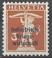 Switzerland War Official 4 Euros Mh * - Officials