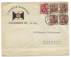 275 - 20 - Enveloppe Envoyée D'Osnabrück 1921 - Léger Pli Vertical - Storia Postale