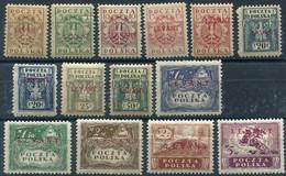POLAND (LEVANT) 1919 Overprinted Set Of 12 MH / * - Levant (Turkey)