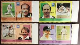 Tuvalu Nukulaelae 1984 Cricketers Specimen MNH - Tuvalu (fr. Elliceinseln)