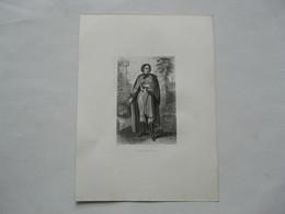 GRAVURE EXTRAITE De La GALERIE HISTORIQUE De La REVOLUTION FRANCAISE : Portrait En Pied De BONCHAMP - Documenti Storici