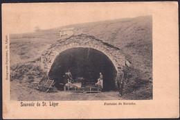 +++ CPA - Souvenir De ST LEGER - Fontaine Du Marache - Animée  // - Saint-Leger