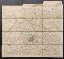 Topografische & Militaire Kaart 1910 STAFKAART Antwerpen Kapellen Brasschaat Oorderen Wilmarsdonk Oosterweel Kalmthout - Topographical Maps