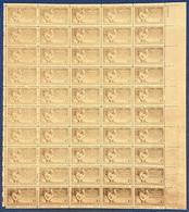 Etats Unis N°519** Brun Fonçé Feuille De 50 Avec Variété D'impréssion Très Usée !! Amusant ! - Unused Stamps