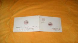 CARTE PUBLICITAIRE DATE ?..RELAIS SAINT JAMES...L'HOTEL BALTIMORE...PARIS... - Advertising