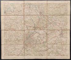 Topografische & Militaire Kaart 1910 STAFKAART Brussel Mechelen Leuven Hageland Dendermonde Pajottenland Uccle Ternat - Topographical Maps