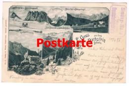 1-003 Grobgesteinhütte Alpenverein Dachstein Künstlerkarte Rarität - Altri