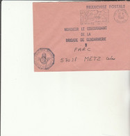Z1 - Enveloppe Brigade  Gendarmerie  LE VESINET   -   En Franchise - - Bolli Militari A Partire Dal 1940 (fuori Dal Periodo Di Guerra)