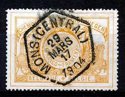 "TR 27 -  ""MONS (CENTRAL)"" - Cachet Exagonal - (ref. ZE-33.549) - 1895-1913"