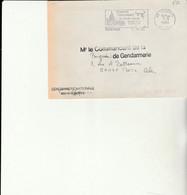 Z1 - Enveloppe Brigade  Gendarmerie  SENONES    -   En Franchise - - Bolli Militari A Partire Dal 1940 (fuori Dal Periodo Di Guerra)