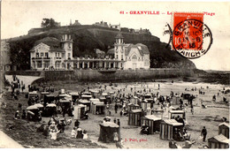 61- Granville - Le Casino Et La Plage - Marée Basse - Familles A La Plage - Granville